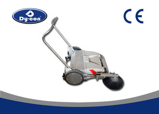 Electric Industrial Manual Push Vacuum Floor Sweeper For Coarse Road Walk Behind
