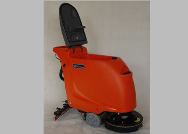 ประเทศจีน Orange Anti Impact Industrial Floor Cleaning Machines With 18-20 Inch Brush โรงงาน